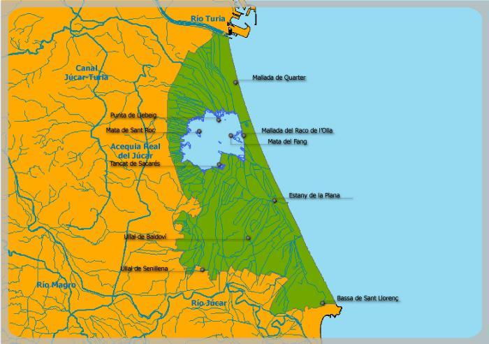 Enlace a imagen Mapa de L'Albufera